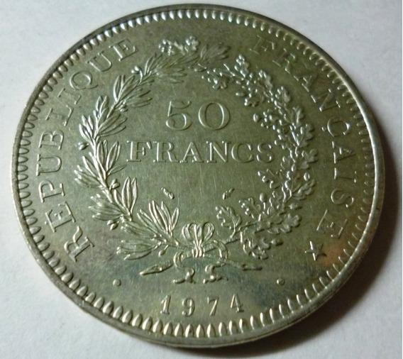 Francia Moneda De Plata 50 Francos 1974 Km 941.1 Au