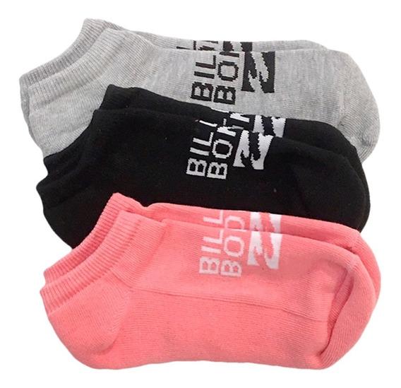 Medias Billabong Invisible Sock Pack X3 Mujer Jbmedinv