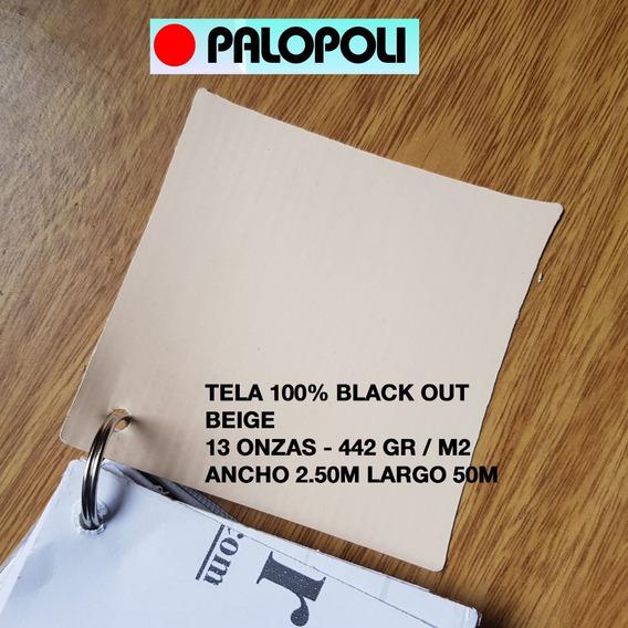 Tela Black Out 100% Beige Ancho 2.50m 442gr/m2 Palopoli