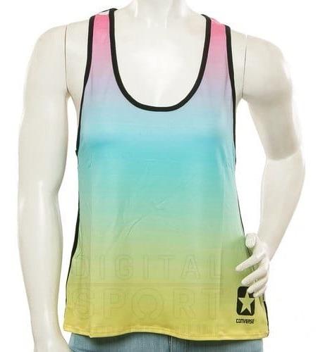 Remera De Algodón Converse Multicolor - Musculosa - Mujer