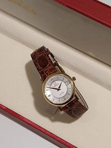 Relógio Omega De Ville Ouro Modelo 73803412 Novo