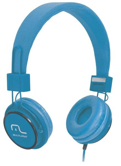 Headphone Head Fun Com Microfone P2 3,5mm Hi-fi Azul Multila