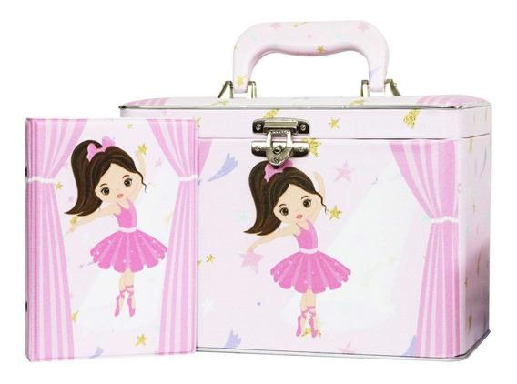 Álbum De Fotos Caixa Box Bebê Bailarina Rosa Para 600 Fotos 10x15