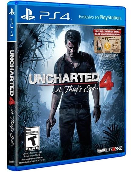 Jogo Uncharted 4 A Thiefs End Ps4 Disco Fisico Original Novo