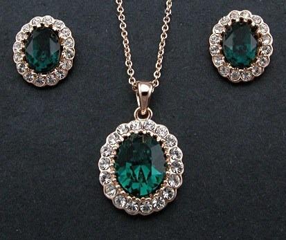 Juego Set Collar + Aretes Swarovski Crystals Stock Importado