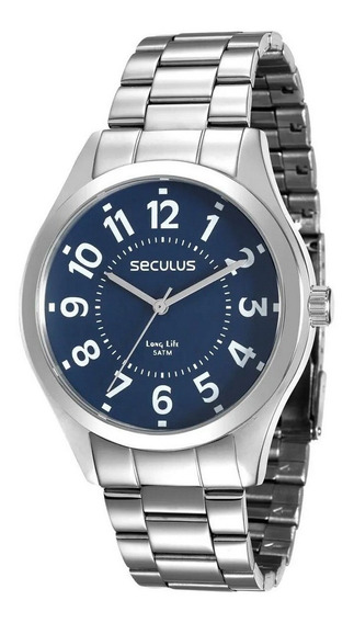 Relógio Seculus Masculino Analógico Prata 28866g0svna1