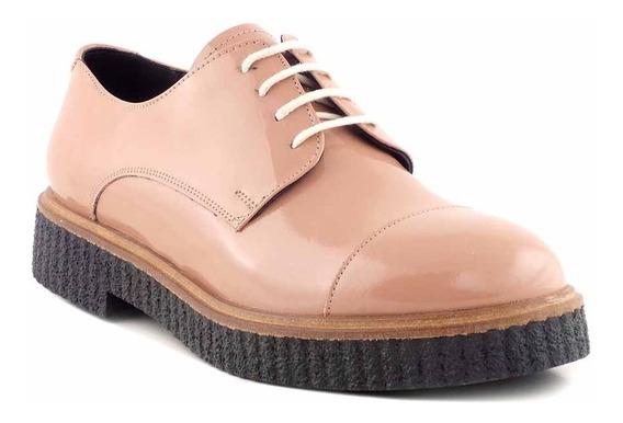 Abotinado Zapato Mujer Cuero Briganti Charol - Mccz03478 Ch