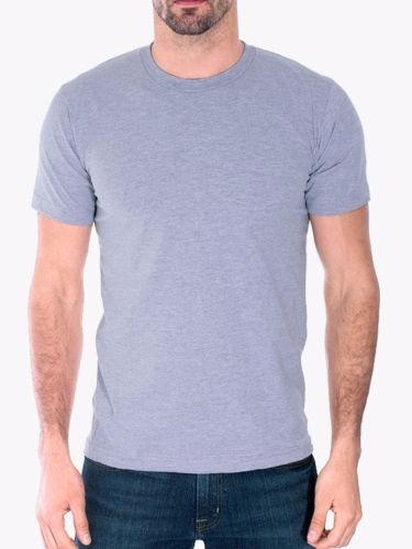 Camiseta Camisa Basica Lisa Cinza Preta Branca Algodão Slim