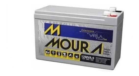 Bateria 12v 9ah Moura Equipamentos Elétricos, Nobreak,alarme