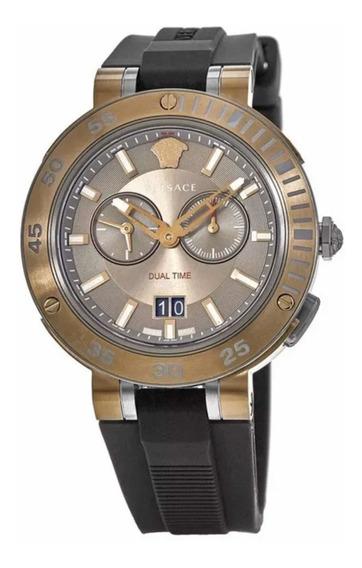 Reloj Versace V-extreme Brown Chronograph Dial Rubber