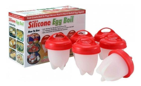 Kit De 6 Formas Em Silicone Cozinhar Ovos Recheados Academia