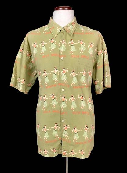 Camisa Hawaiana Hula Dance Old Navy New Vintage Pattern