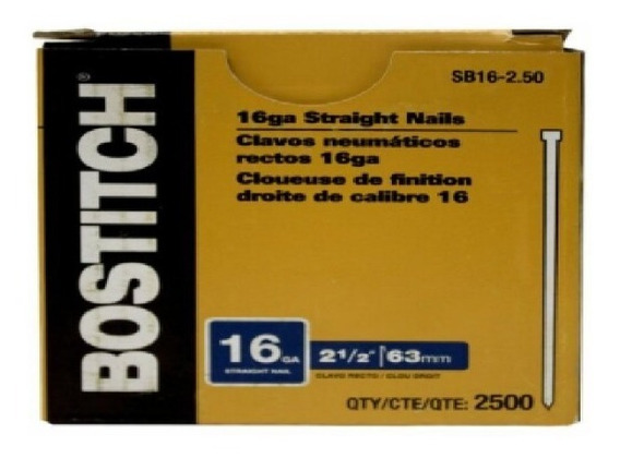 Descontinuado Sin Reemplazo Clavillo Cali Bostitch Sb16-2.50