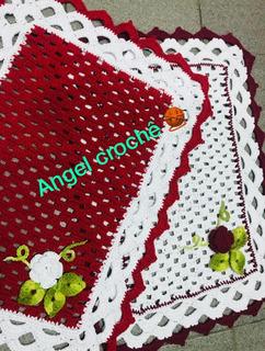 Kit 2 Tapetes De Croche