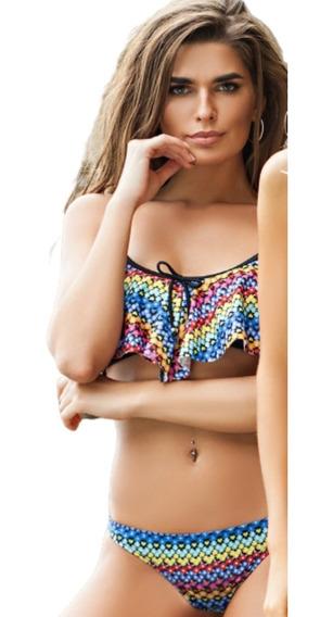 Bikini Top Volados Vedetina Folk Promesse 8180