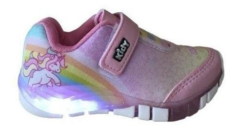 Tenis Infantil Menina Kidy Flex Light 0008 Rosa