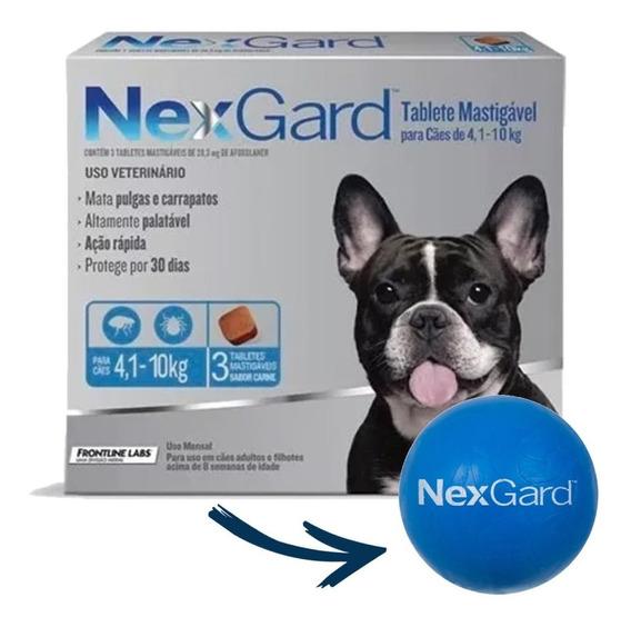 Antipulgas Nexgard Cães 4,1 A 10kg 3 Tablete