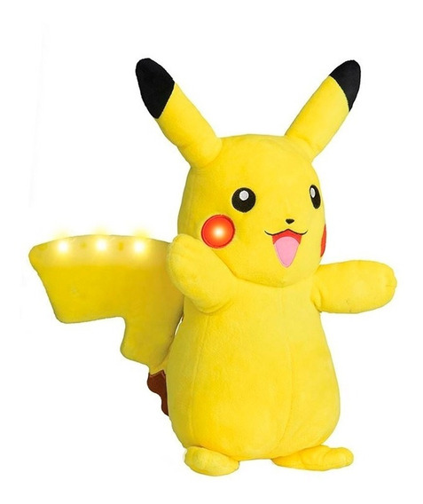 Pikachu Pelúcia Power Action Pokémon Com Luz E Som - Dtc