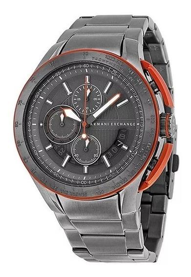 Relogio Ox1517 Armani Exchange Ax1405 Cinza Metal C/ Caixa