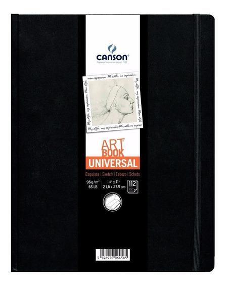 Caderno Sketch Art Book Universal Canson 21x27 112fls 96grs