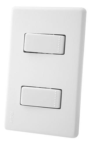 Interruptor Doble Conmutable Astral Blanco Ciles