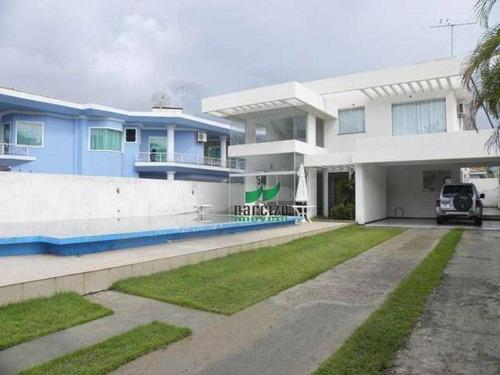 Casa Com 4 Dormitórios À Venda, 380 M² Por R$ 1.200.000,00 - Miragem - Lauro De Freitas/ba - Ca0931
