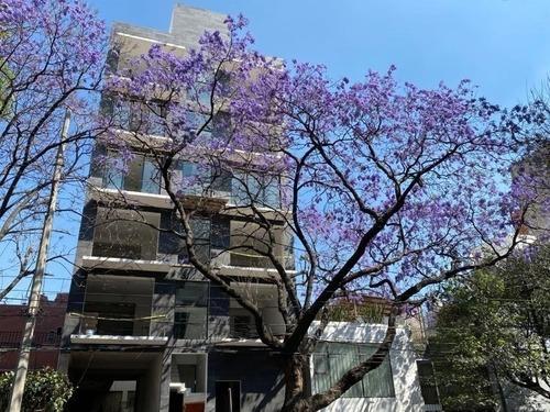 Departamento Ph1 En 2 Niveles, En Letrán Valle Con Balcón Y Roof Garden Privado
