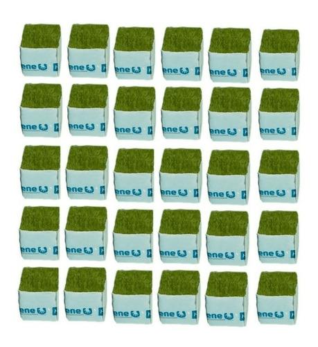 Imagem 1 de 5 de Cultilene Wool Block (bloco De Lã De Rocha) - 30 Un De 4x4cm