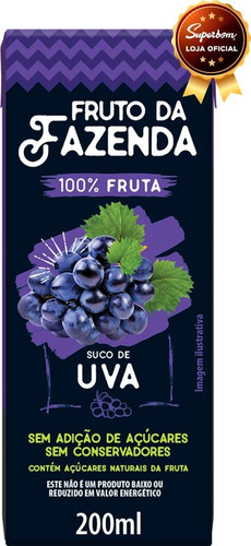 Suco De Uva 100% 200ml Superbom