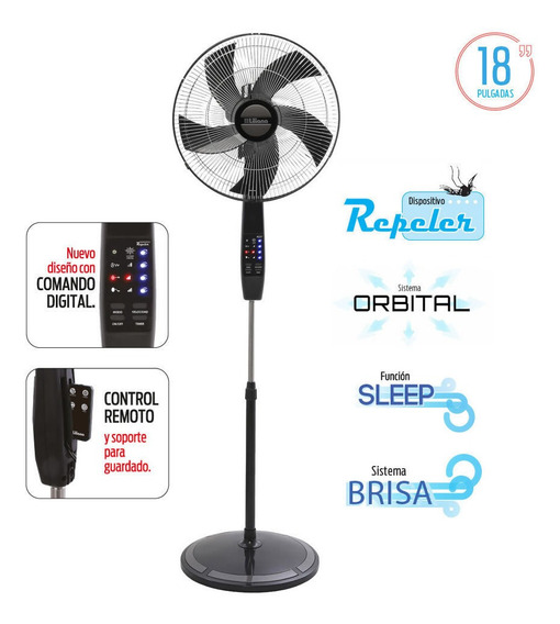 Ventilador Liliana Digital + Control Remoto + Timer + Silent