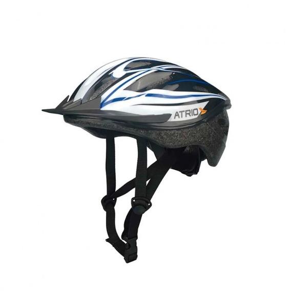 Capacete Para Ciclismo Mtb Tamanho M Alças A Branco/azul