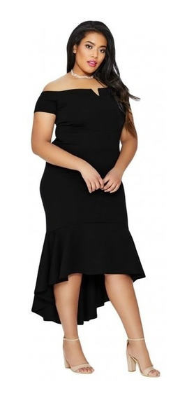 Elegante Vestido Talla Extra Largo Sin Hombros 610341 5