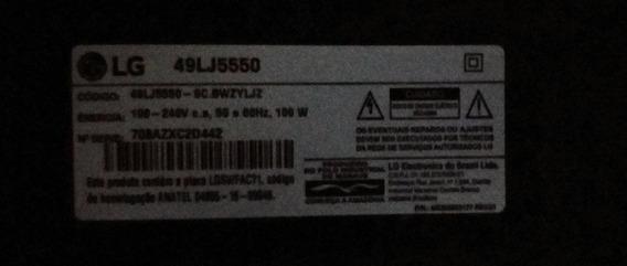 Tv Lg 49lj5550,nova Porém Com A Tela Quebrada.ligando Normal