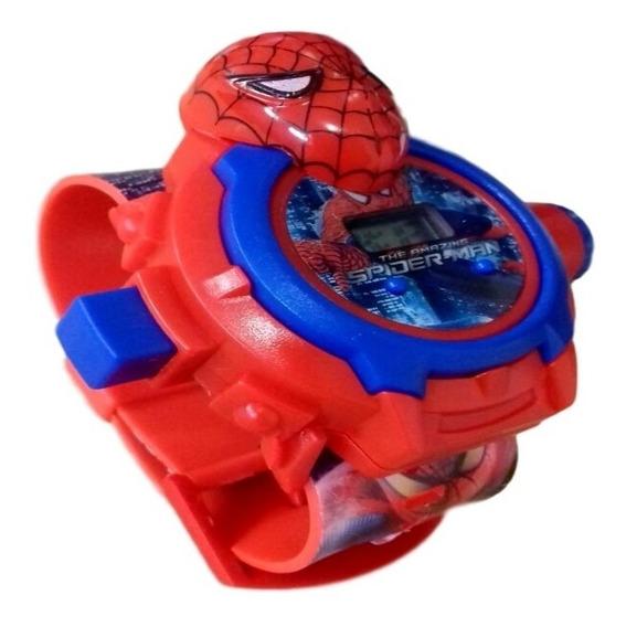 Relógio Infantil Homem Aranha Com Projetor Imagem 24 Grids