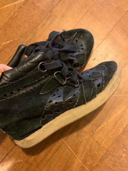 Zapatillas Rapsodia Con Taco 38 Mujer