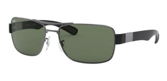 Oculos Sol Ray Ban Rb3522 004/71 64 Grafite Lente Verde G15
