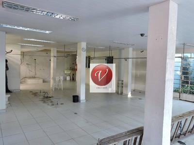 Salão Para Alugar, 150 M² Por R$ 12.000/mês - Jardim - Santo André/sp - Sl0214