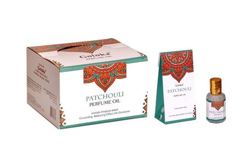 Imagem 1 de 1 de Óleo Perfumado Indiano Goloka Patchouli 6un.10ml - Limpeza