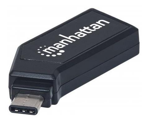 Manhattan Mini Multilector De Tarjetas Usb 24 En 1 Negro /m