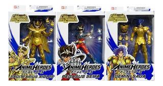 Anime Héroes Caballeros Del Zodiaco Set De 3 Figuras