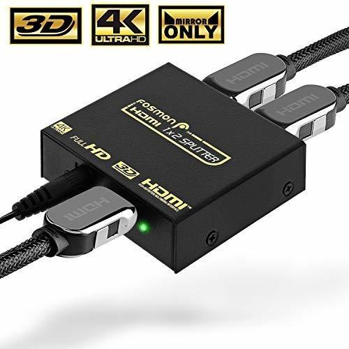 Imagen 1 de 6 de Divisor Hdmi De Fosmon Hdmi 4k 1 En 2 Salidas Compatible Con