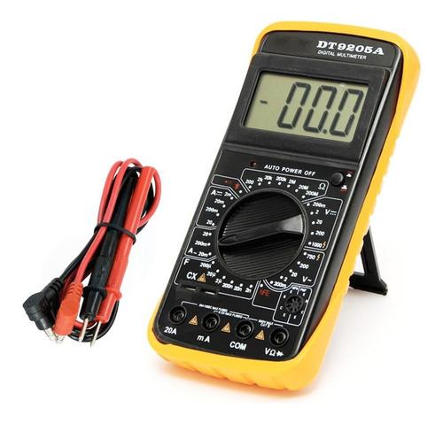 Imagen 1 de 7 de Tester Multimetro Digital Profesional Capacimetro 9205a