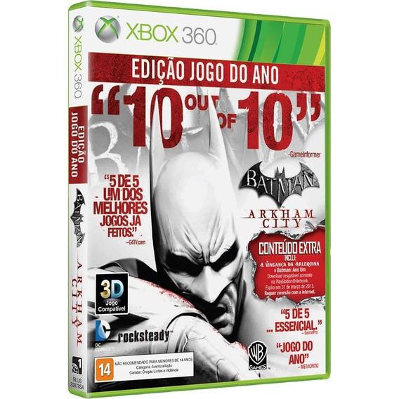 Batman Arkham City Xbox 360 Original Midia Fisica + Brinde