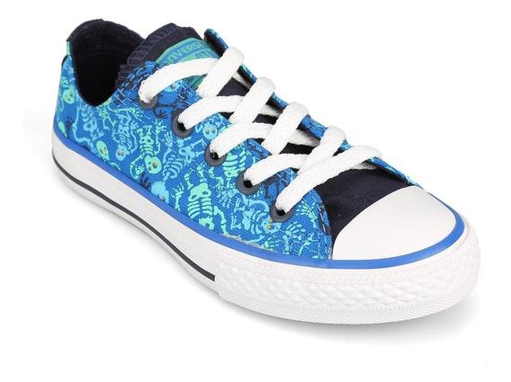 Zapatillas Converse All Star Azul Estampa Precio Especial