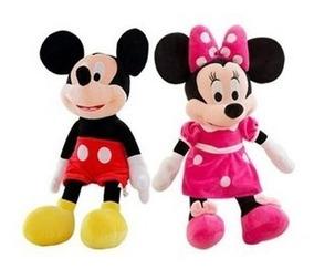 Bonecos De Pelúcia Mickey E Minnie Com Ventosa Para Carro
