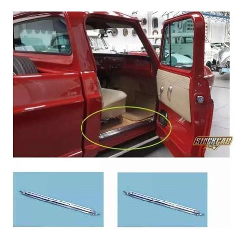 Kit  Frisos Soleira Caixa Ar  D10 C10 D60 De Alumínio (par)