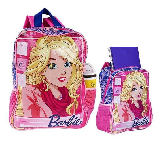 Mochila Infantil De Costas Bolsa Escolar Grande Barbie