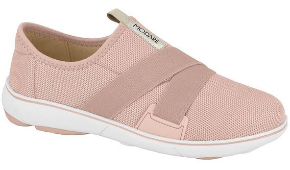 Tenis Casual Feminino Calce Facil Confort Macio Slip Modare