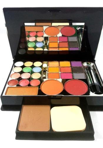 Imagen 1 de 8 de Petaca Maquillaje Grande Muy Completa. Hermoso Toque