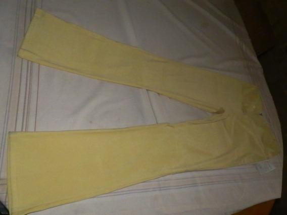 Pantalon Amarillo Patricia Blanco Talla M Bota Ancha 24 Ctm